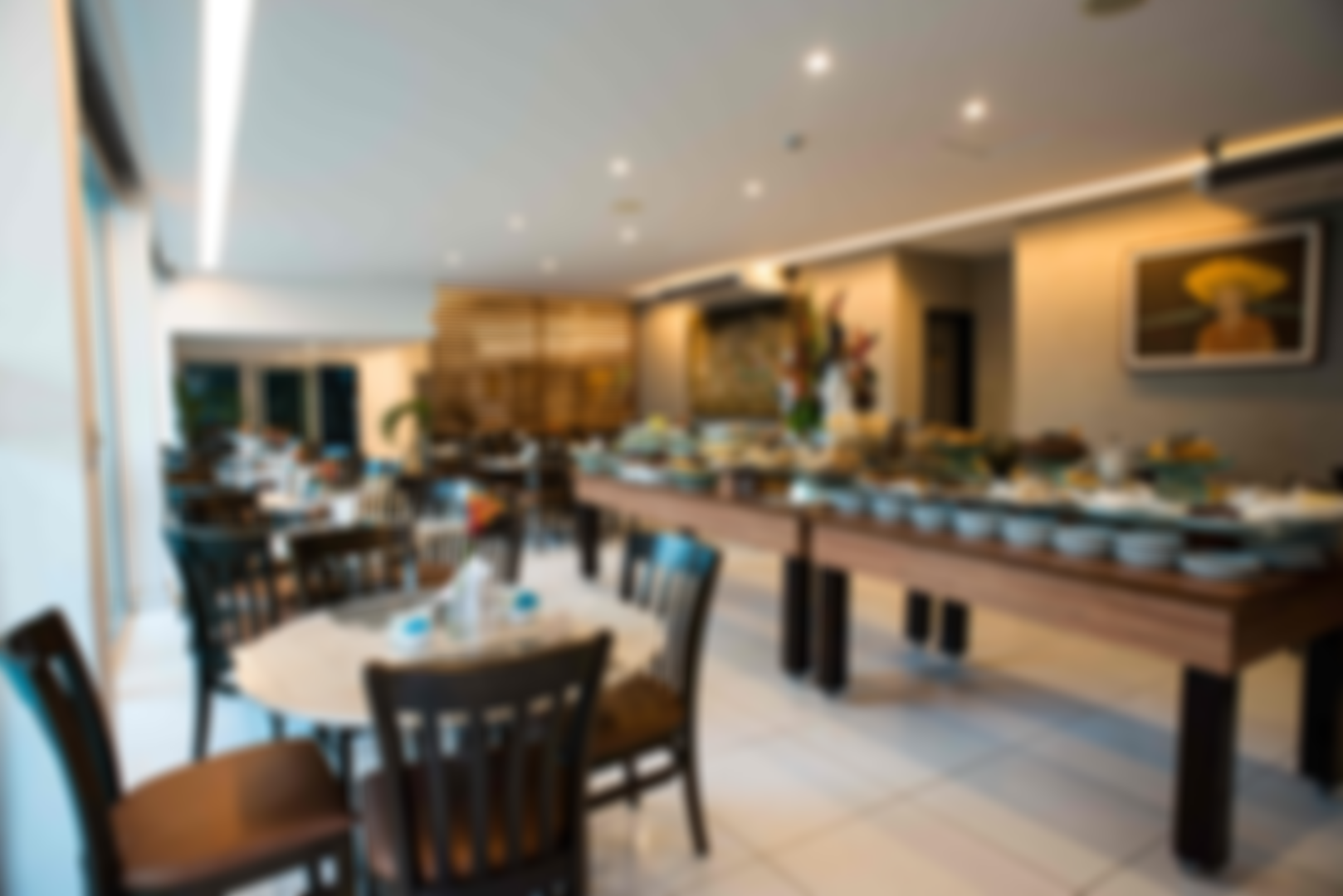 O restaurante é de culinária baiana e internacional.