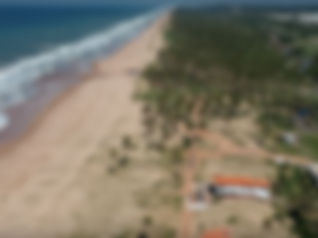 Faixa de praia exclusiva vista do drone em Baixio