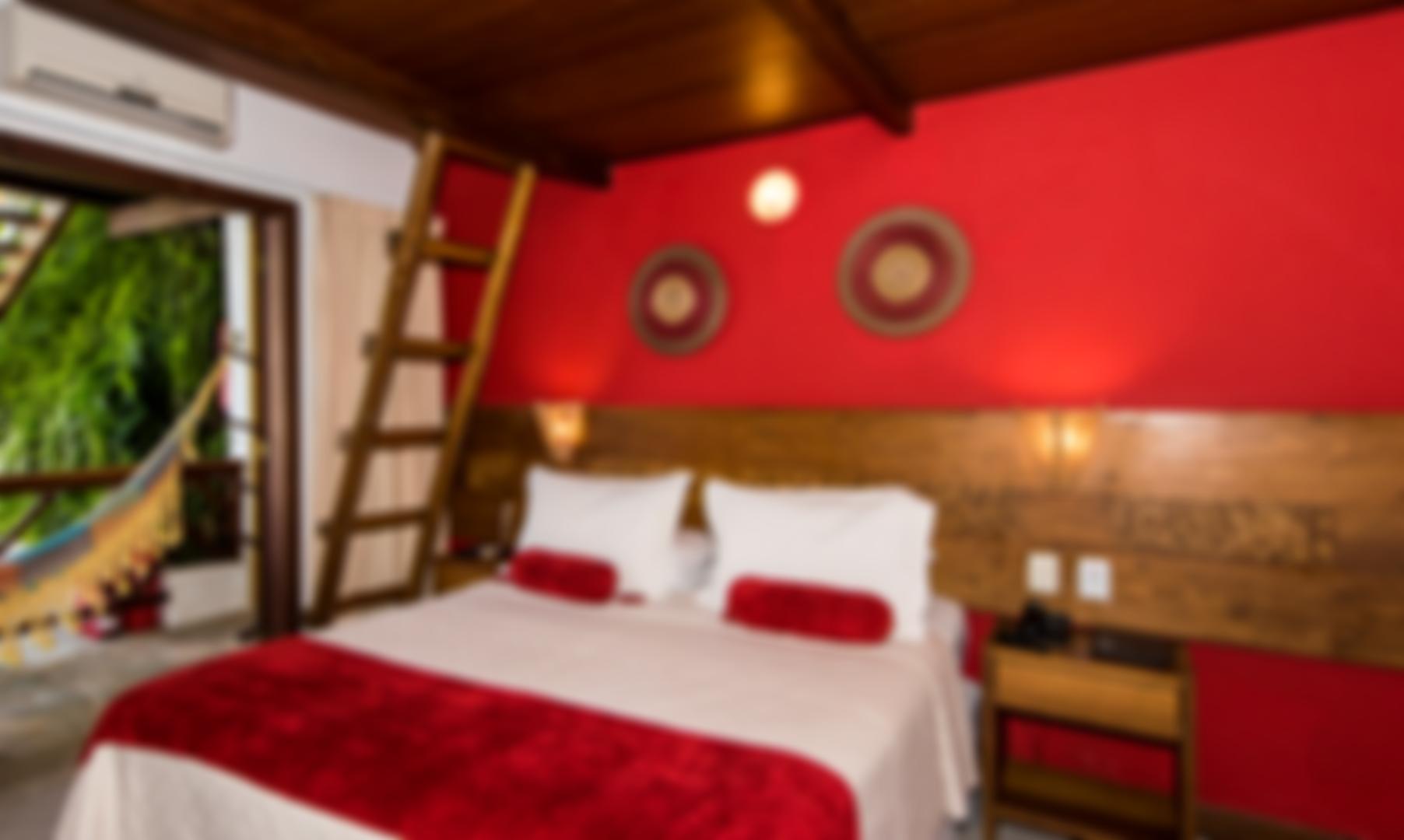 Suite Vermelha - Pousada Passárgada - Morro de São Paulo BA