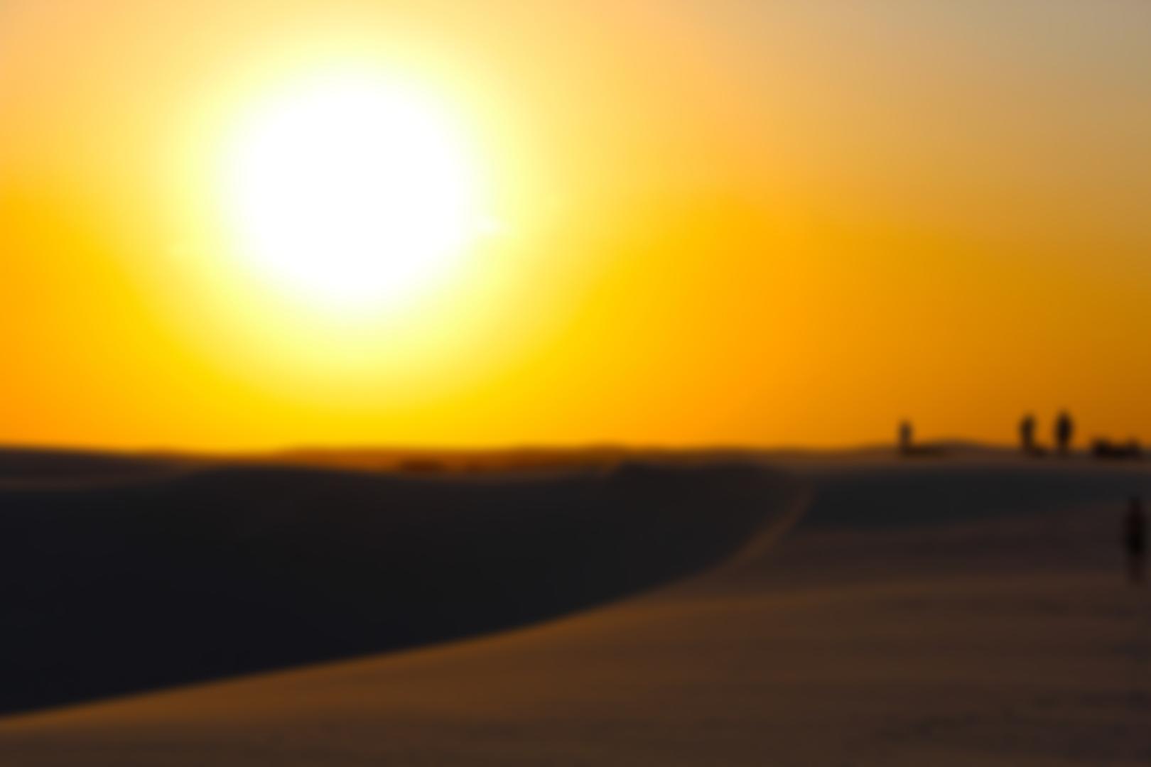 Por do Sol - Lençóis Maranhenses - Pousada da Areia