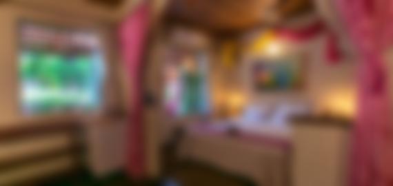 Visão interna do apartamento na pousada no Vale do Capão