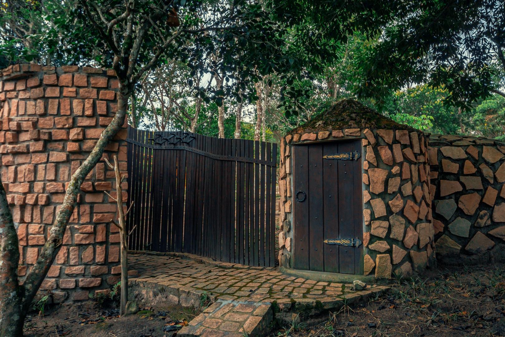 No Vale do Capão uma sauna de pedra