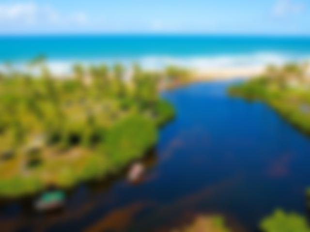 Imbassaí:destino de rio e mar