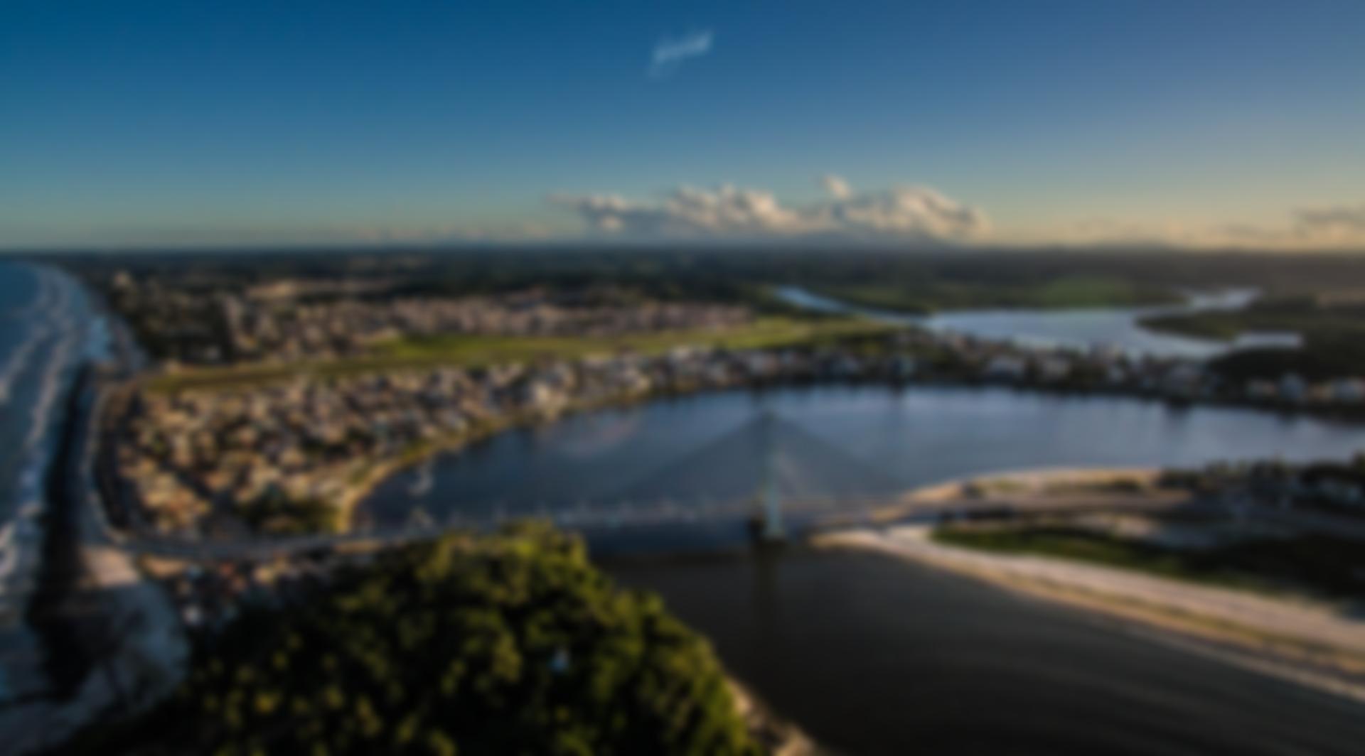 Vista aérea de Ilhéus, no sul da Bahia