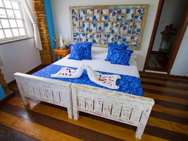 Quarto casal luxo Yemanjá, cama queen, Pelourinho, Salvador