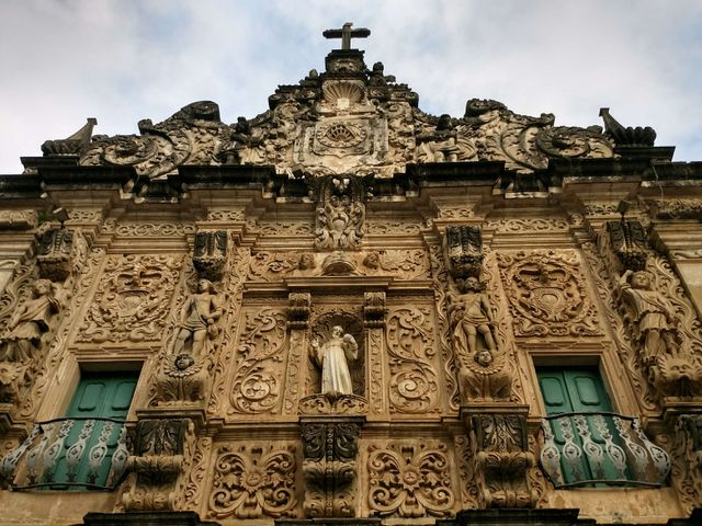 Church façade, Pelourinho, historic center, Salvador, Bahia