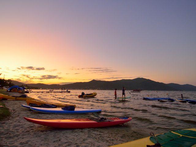 Por do sol - Pousada Casa da Lagoa - Florianópolis