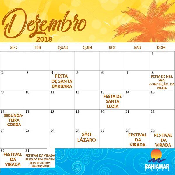 Calendario Dezembro 2019 Janeiro 2020.Calendario De Verao Salvador 2019